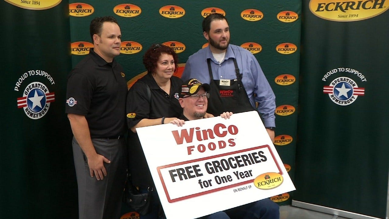 Disabled Vet, Wife New To Oklahoma Get Free Groceries For Year