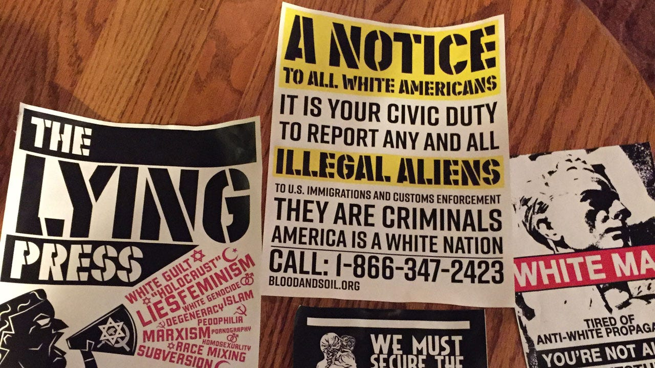 Racist Posters Found On Cherry Street
