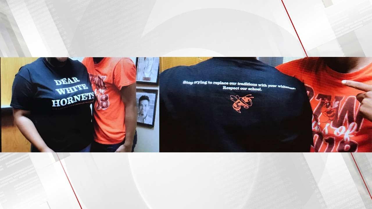 Booker T. Principal: 'Dear White Hornets' T-Shirt Divisive