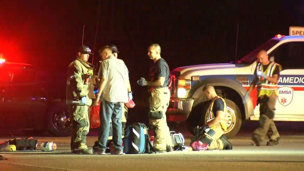 Motorcycle, Car Crash Closes Eastbound Lanes Of State Highway 51