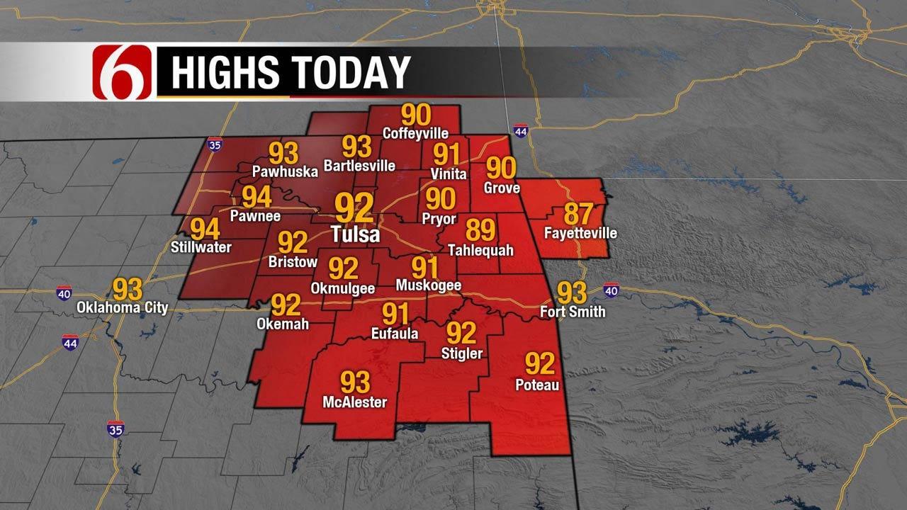 Windy And Warm Across Eastern Oklahoma