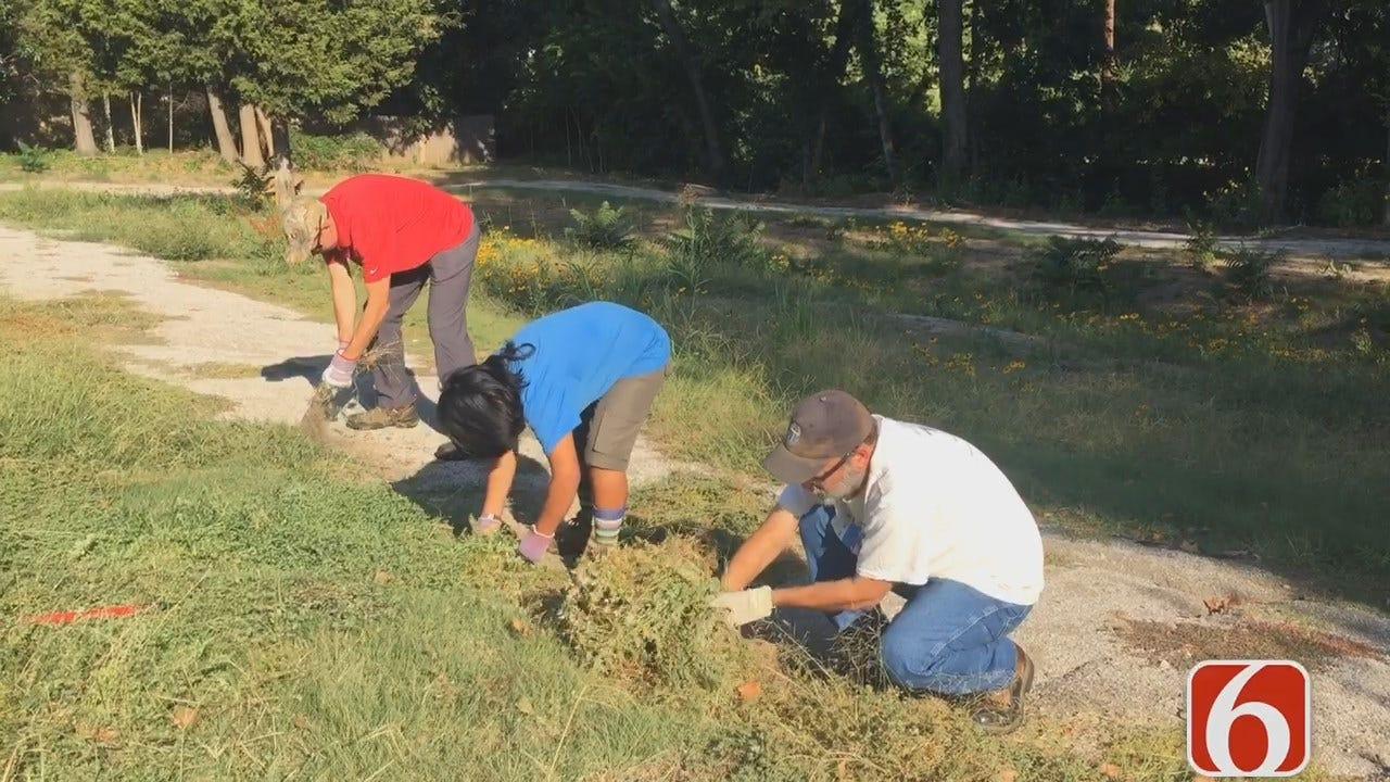 City Workers, Volunteers Team Up To Clean Crow Creek