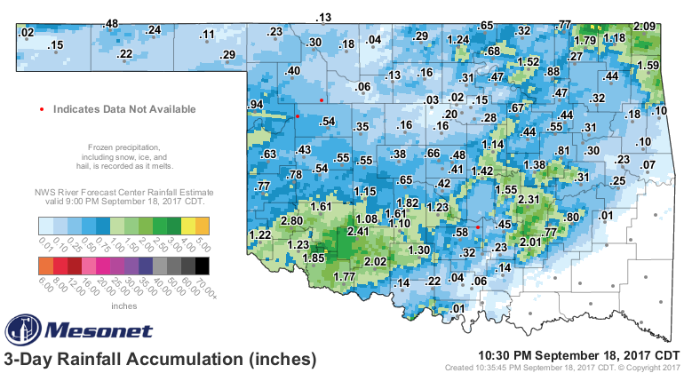 Summer Hangs On in Oklahoma