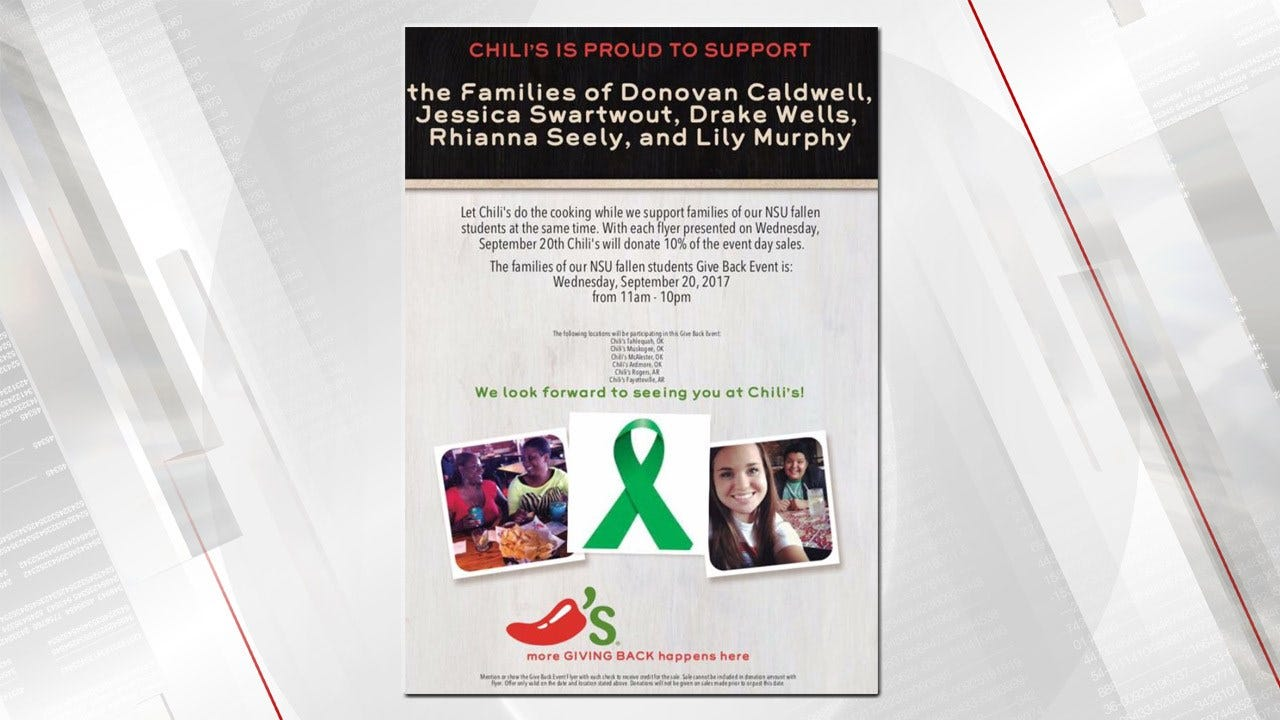 Area Chili's To Donate To Families Of 5 NSU Students