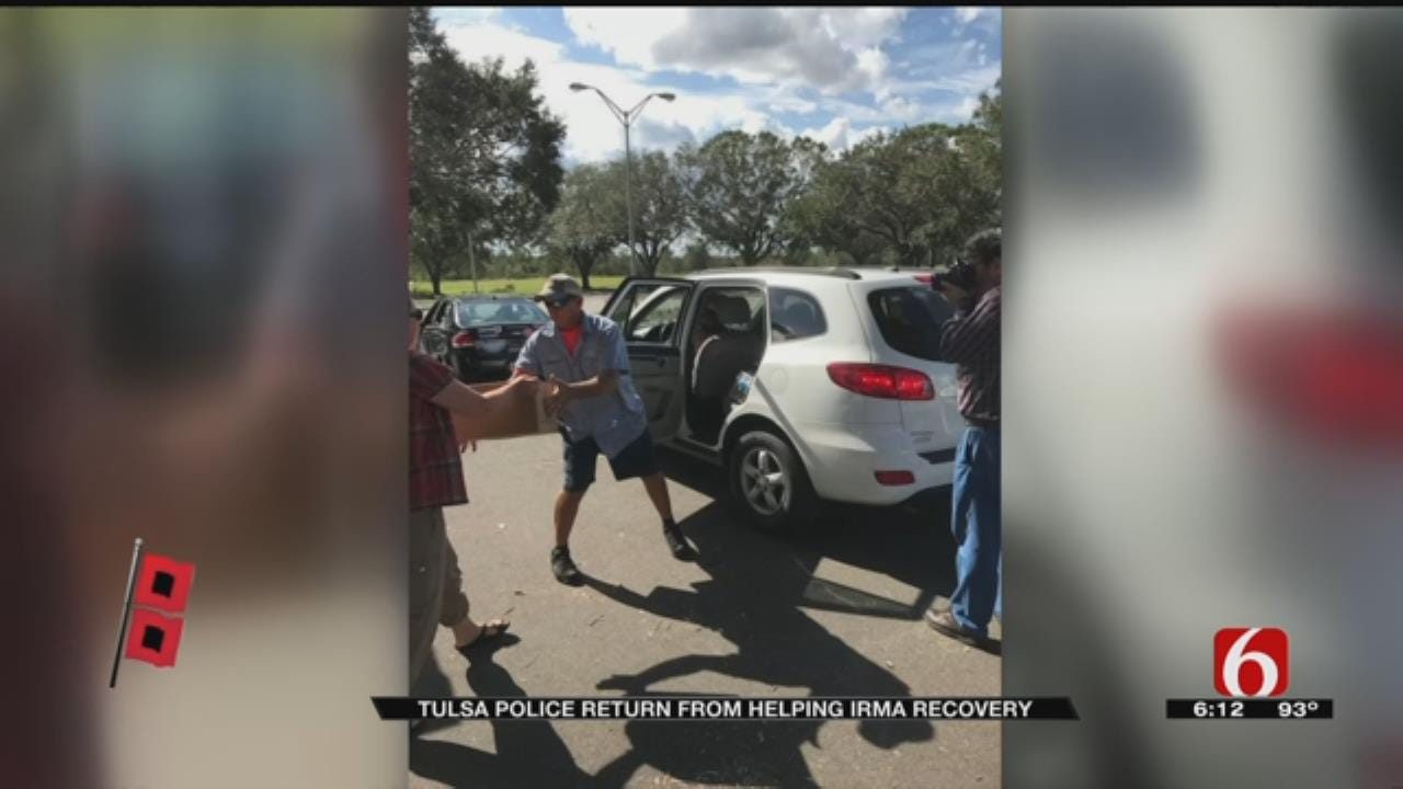 Tulsa Officers Back Home After Helping In Hurricane Irma Aftermath