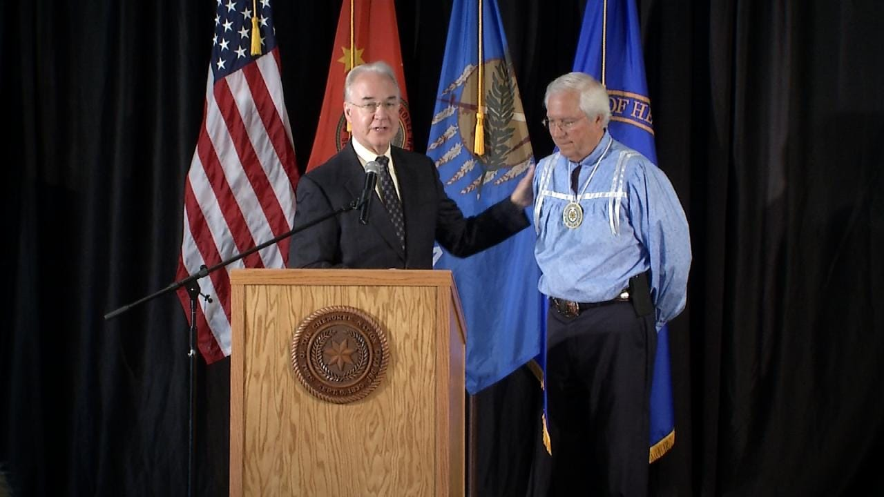 U.S. Secretary Of Health And Human Services Visits Cherokee Nation