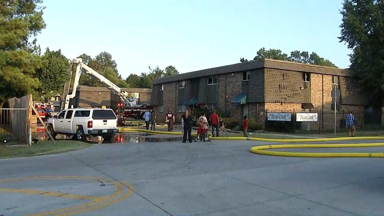 Firefighter Treated For Heat Exhaustion At Tulsa Apartment Fire