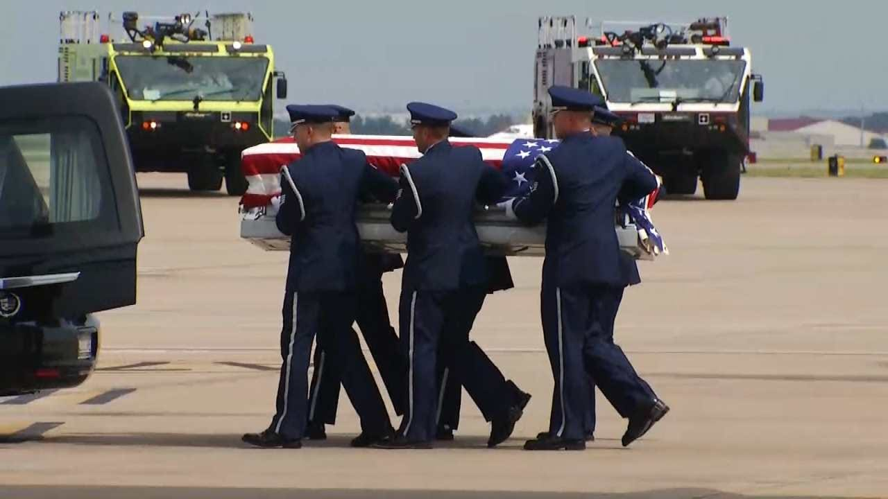 Pilot's Remains Returned To Oklahoma After Missing In Action 50-Plus Years