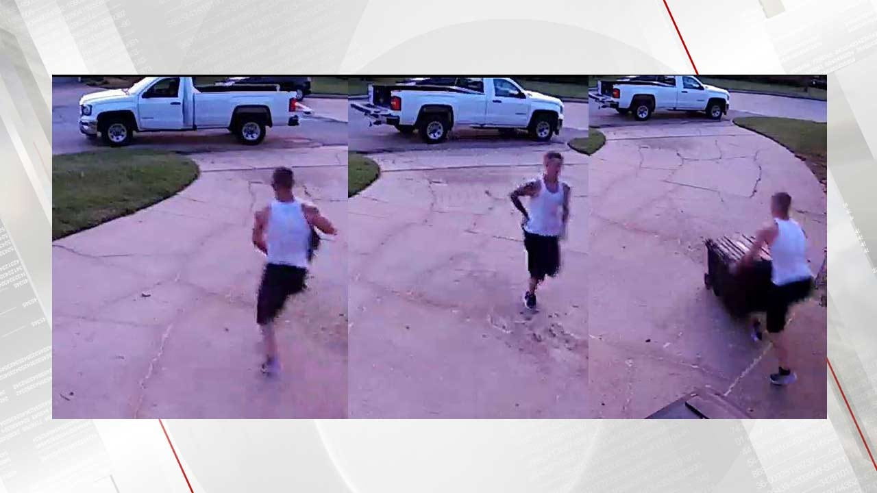 Surveillance Video Captures Thief Steal From Tulsa Home Twice