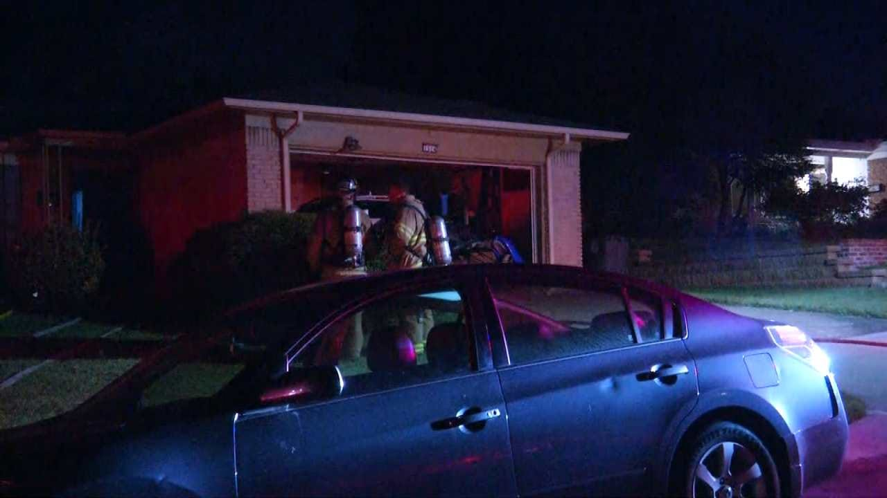 Tulsa Home's Roof Damaged By Fire