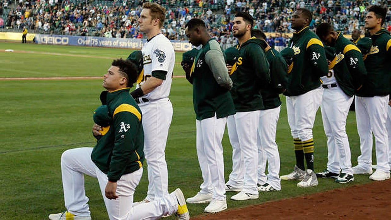 Oakland A's Player Becomes First MLB Player To Kneel During National Anthem