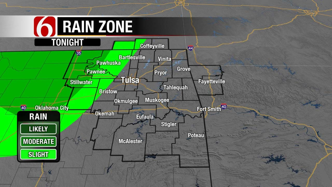 Cold Front To Move Into Eastern Oklahoma