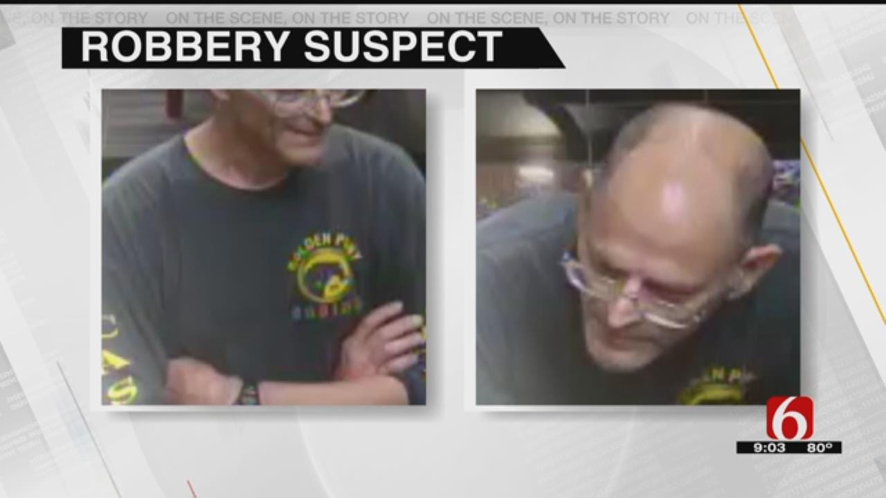 FBI, Tulsa Police Seek Man Who Robbed Bank