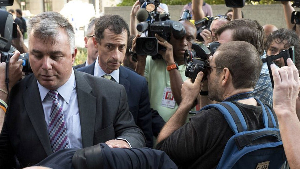 Former U.S. Rep. Anthony Weiner Sentenced To 21 Months In Sexting Case