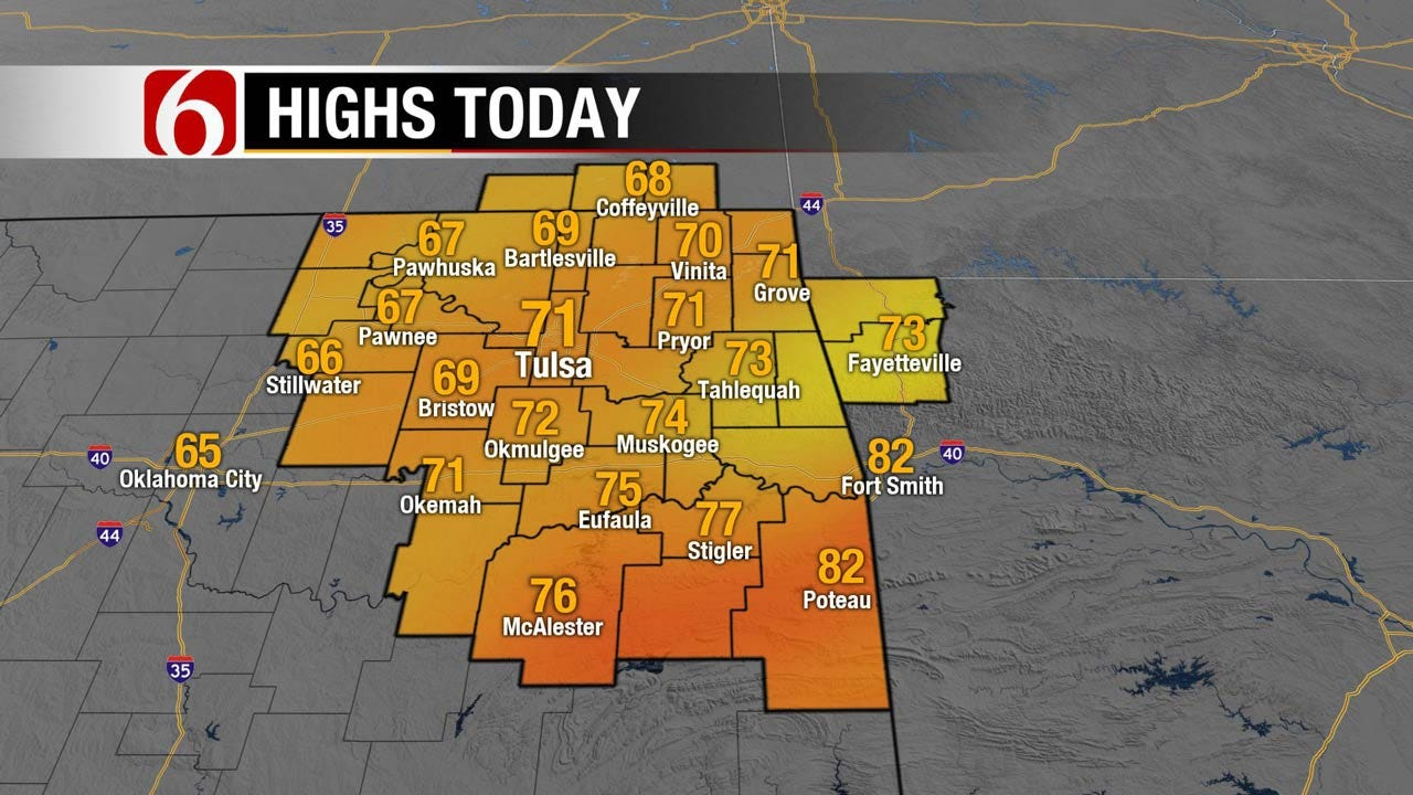 Several Days Of Fall, Before A Warm Up Across Eastern Oklahoma