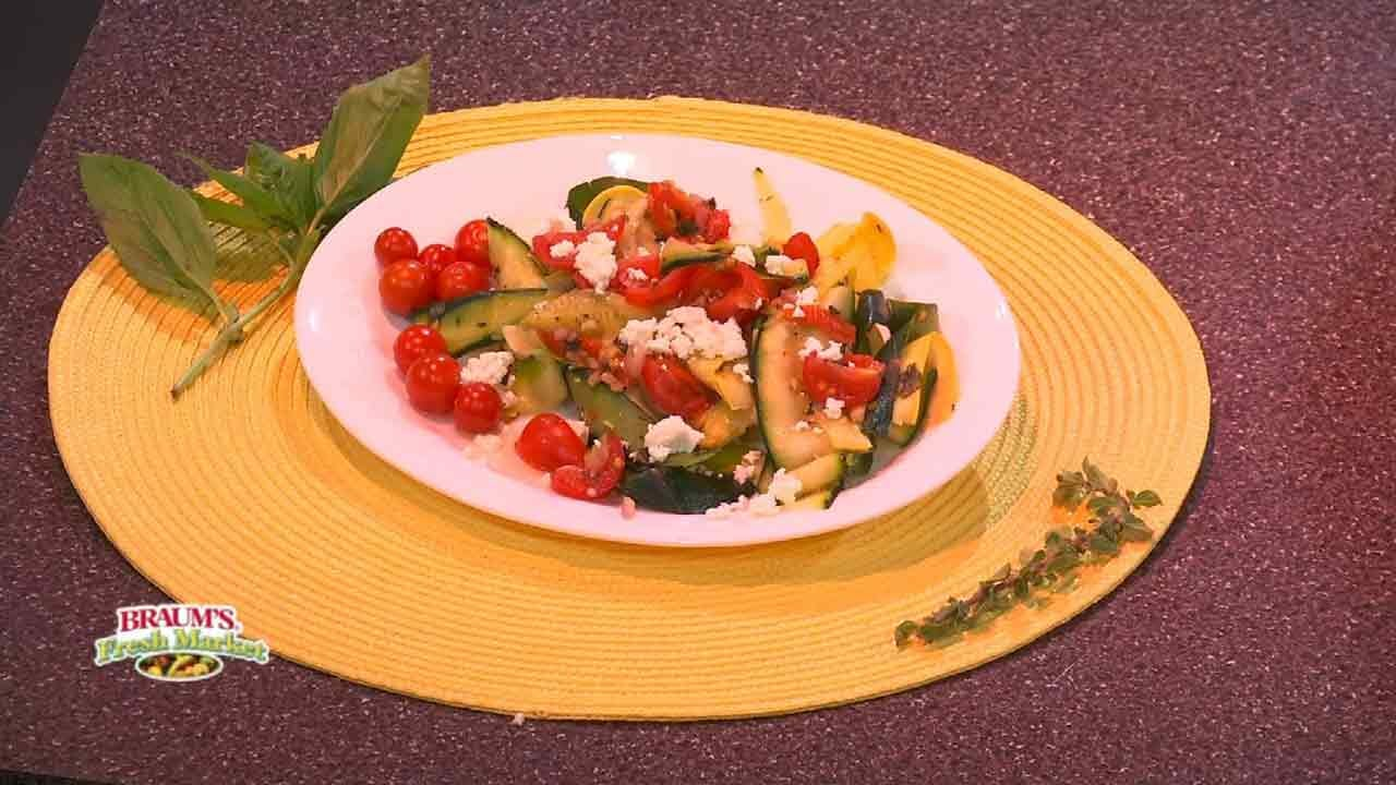 Veggie Pasta With Tomatoes And Goat Cheese