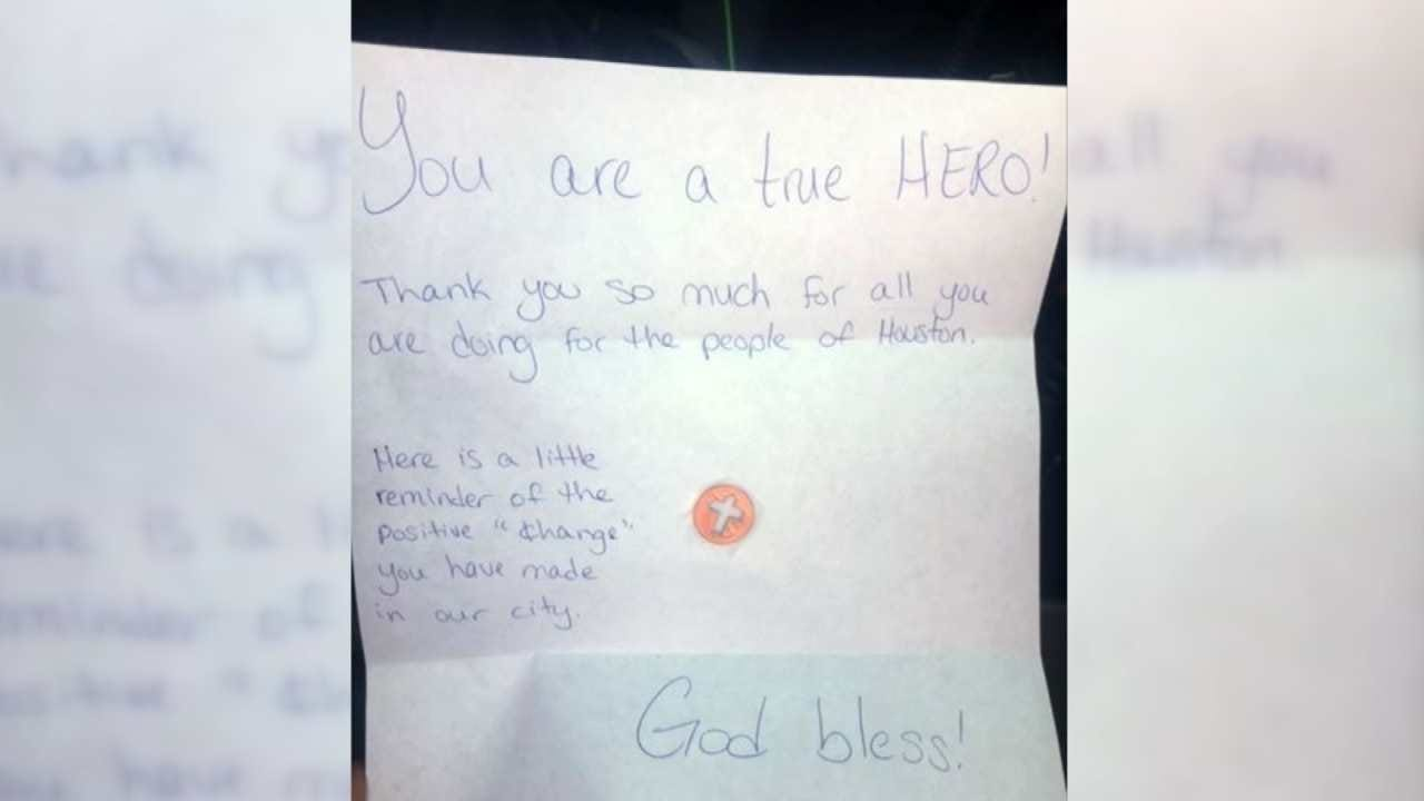OKC Firefighters Get Special Thanks From Young Texas Hurricane Victims