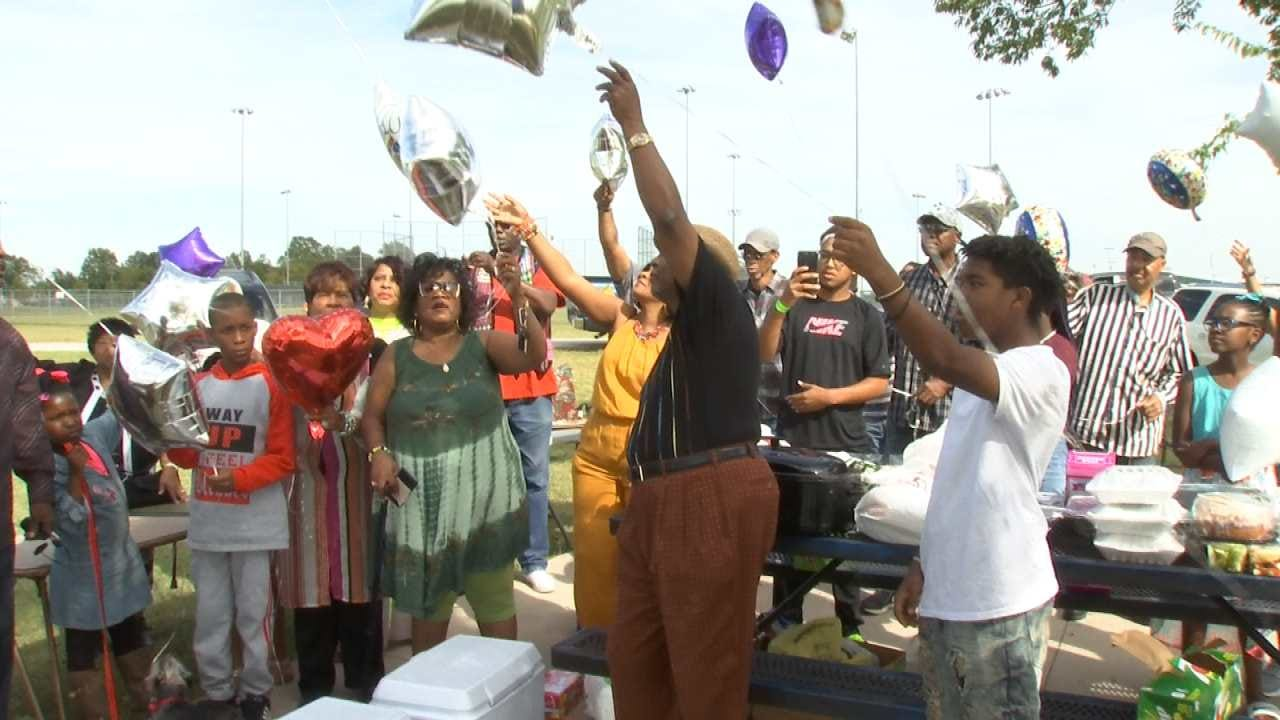 Balloons Released To Remember Tulsa Homicide Victim