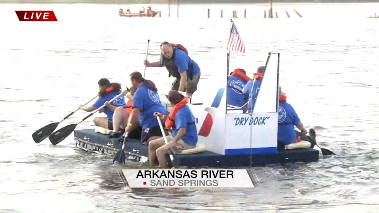 Third Annual Tulsa's Great Raft Race Underway