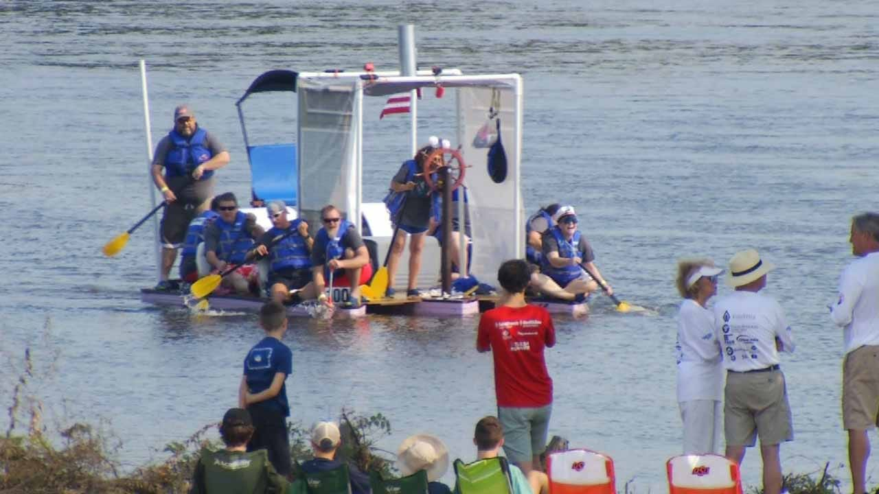 Tulsa's Great Raft Race Continues Growth In Third Year