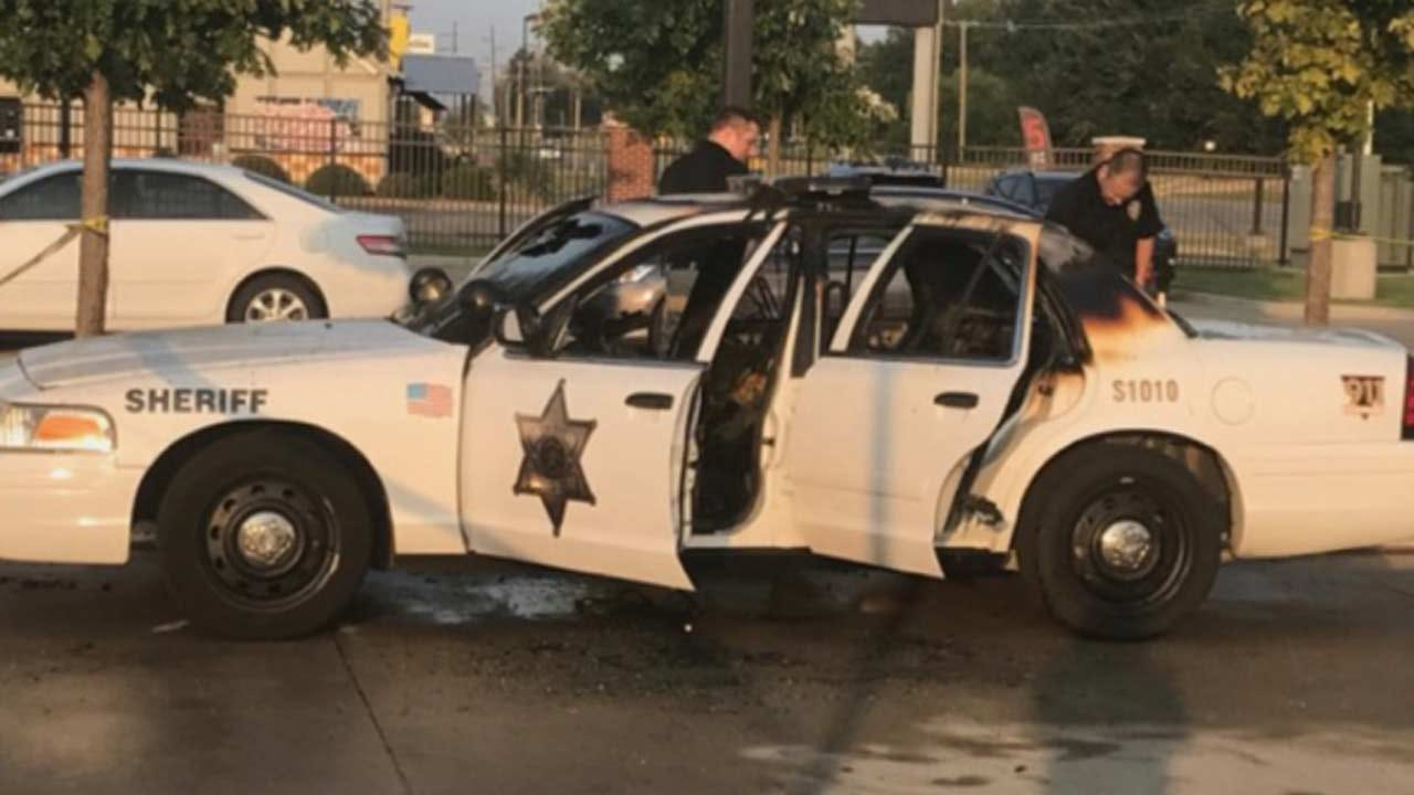 Arsonist On Bicycle Destroys Tulsa County Sheriff's Office Cruiser