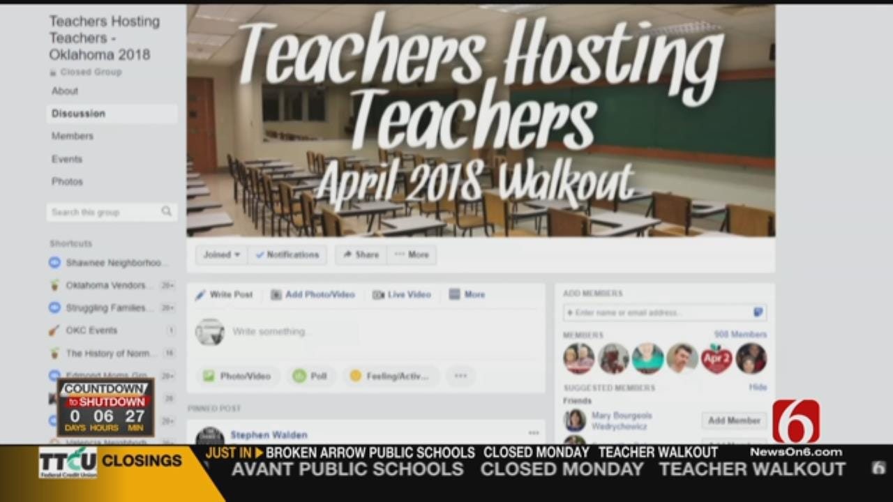 OKC Area Teachers Open Homes To Peers Traveling For Walkout