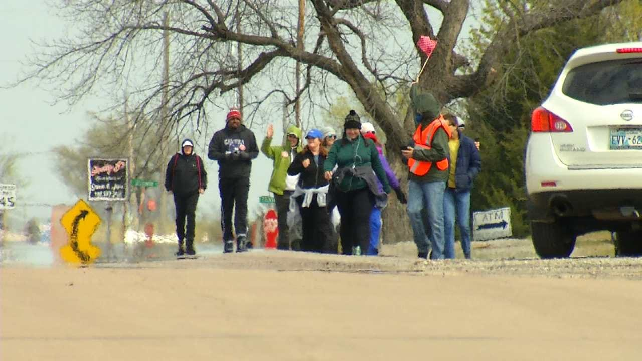 Teachers Walking From Tulsa To State Capitol Arrive Tuesday