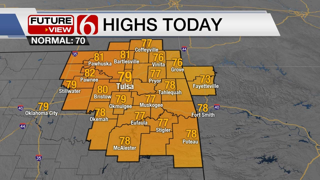 Windy And Warm Wednesday Across Green Country
