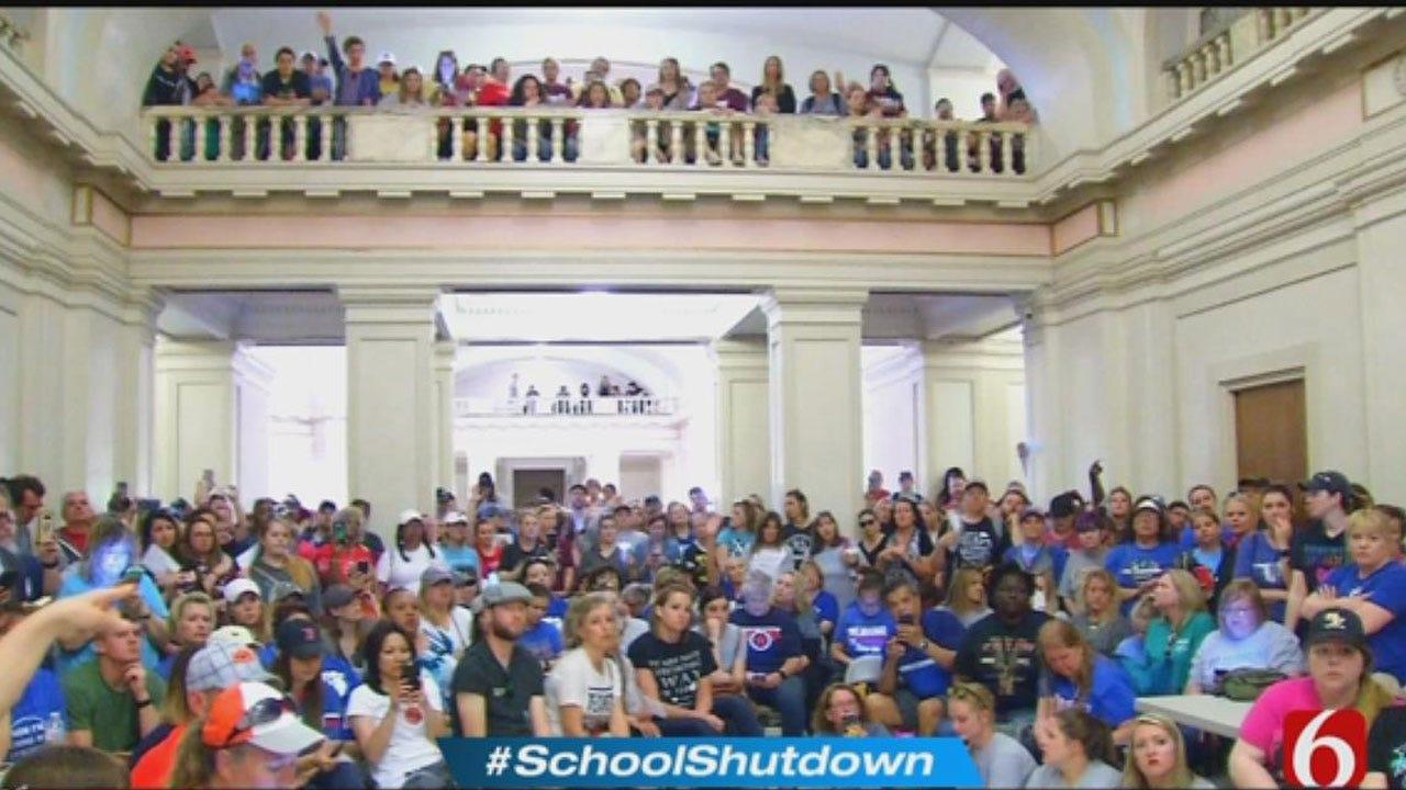 Teachers Remain At Capitol Despite OEA Walkout Announcement