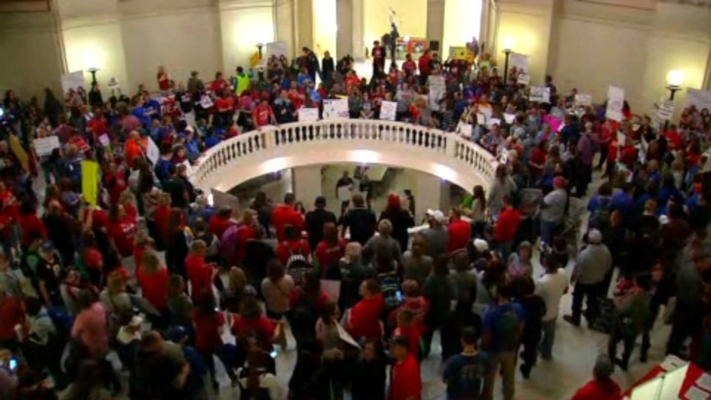 Teachers Swarm Capitol For Day 2 Of Walkout