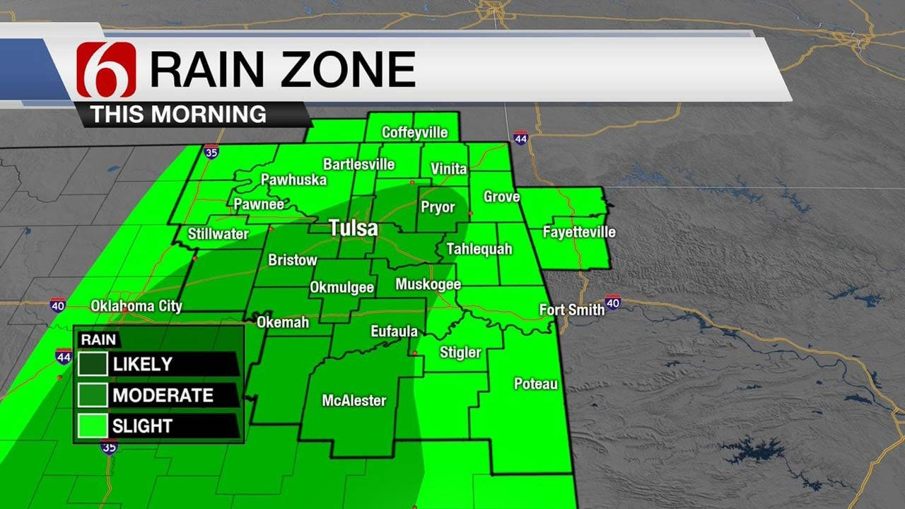 Thunderstorms East Of Tulsa, Fire Danger To The West