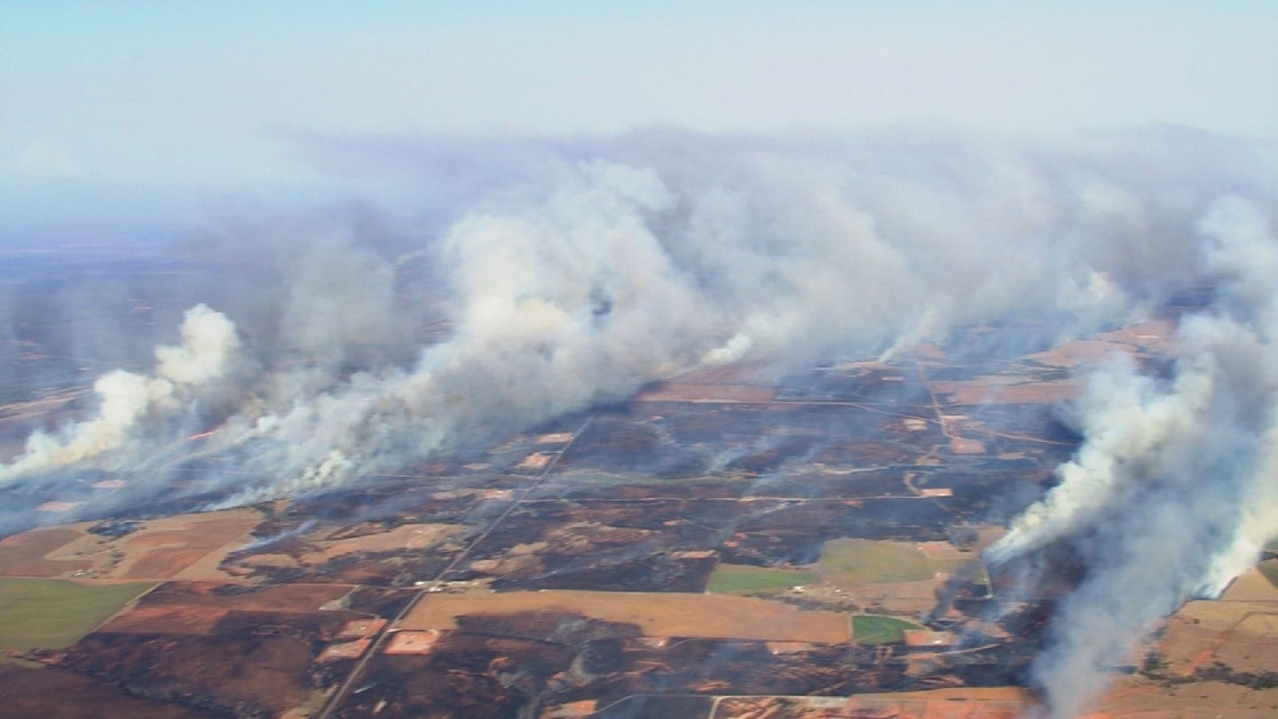 Green Country Firefighters Back Home After Battling Fires In Western OK