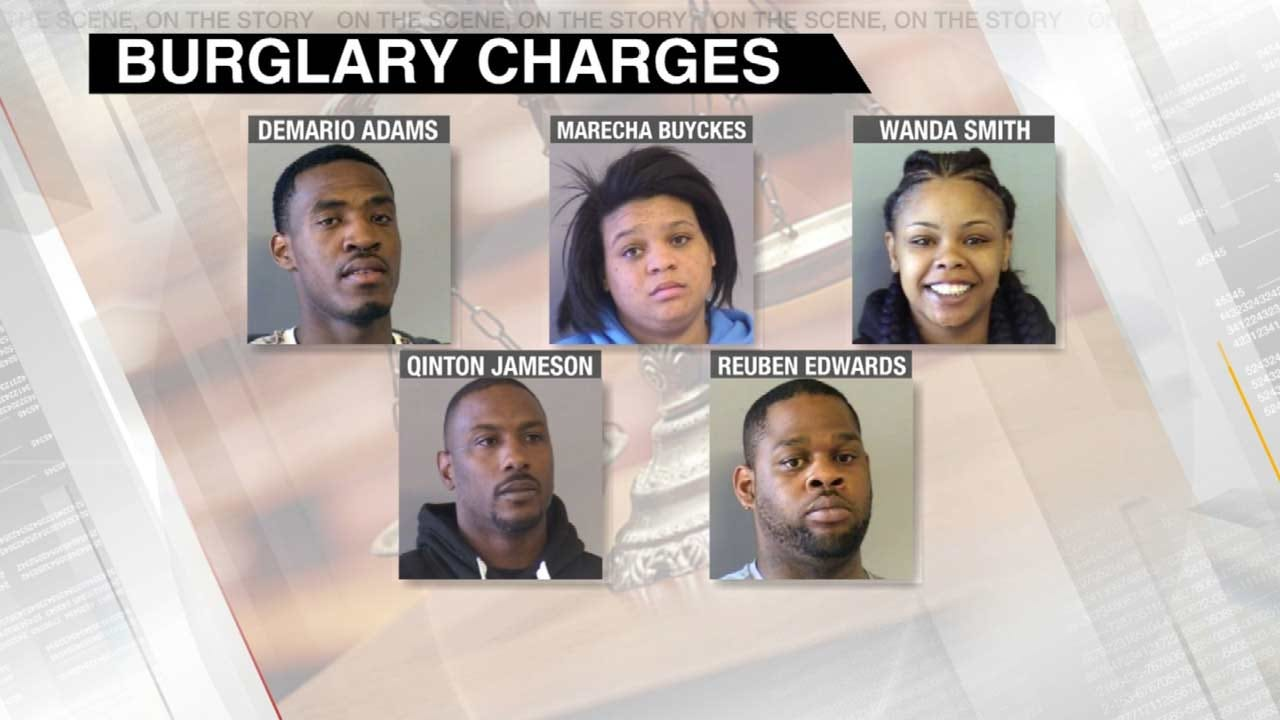 Five Charged In String Of Tulsa Burglaries