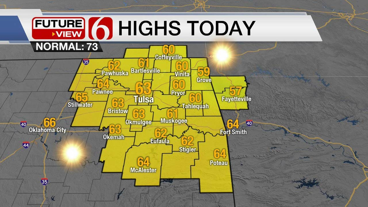 Sunny & Cool Across Green Country Today