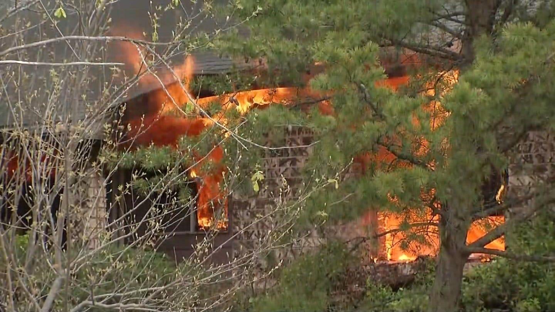House Fire In Broken Arrow