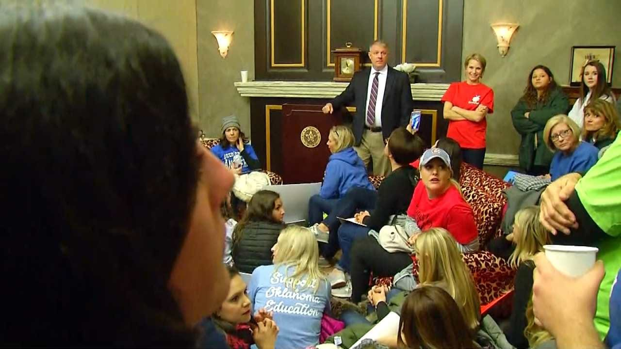 Teachers March On Capitol To Demand Education Funding