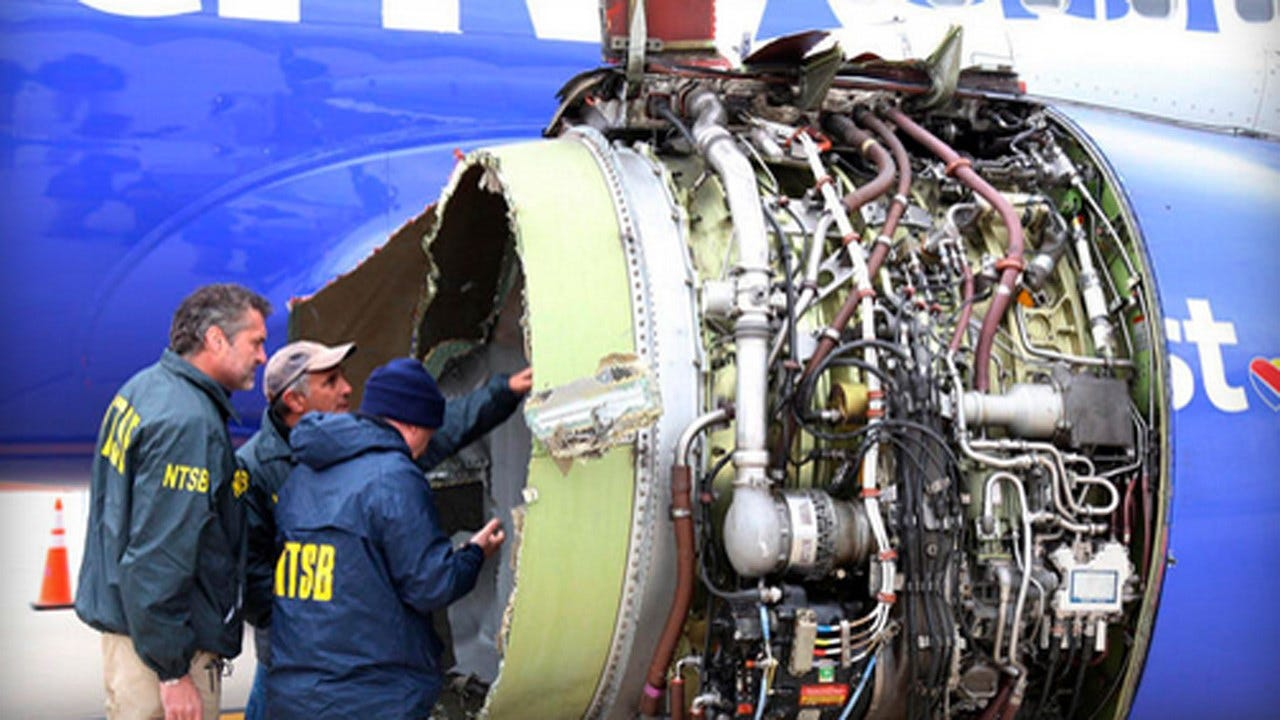 FAA Orders Inspections Of More Engines Like One In Deadly Southwest Incident
