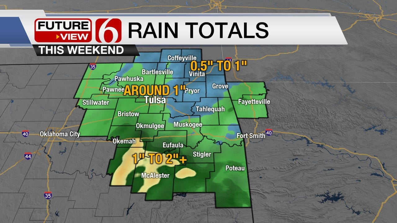 Widespread Rain Expected Across Green Country On Saturday