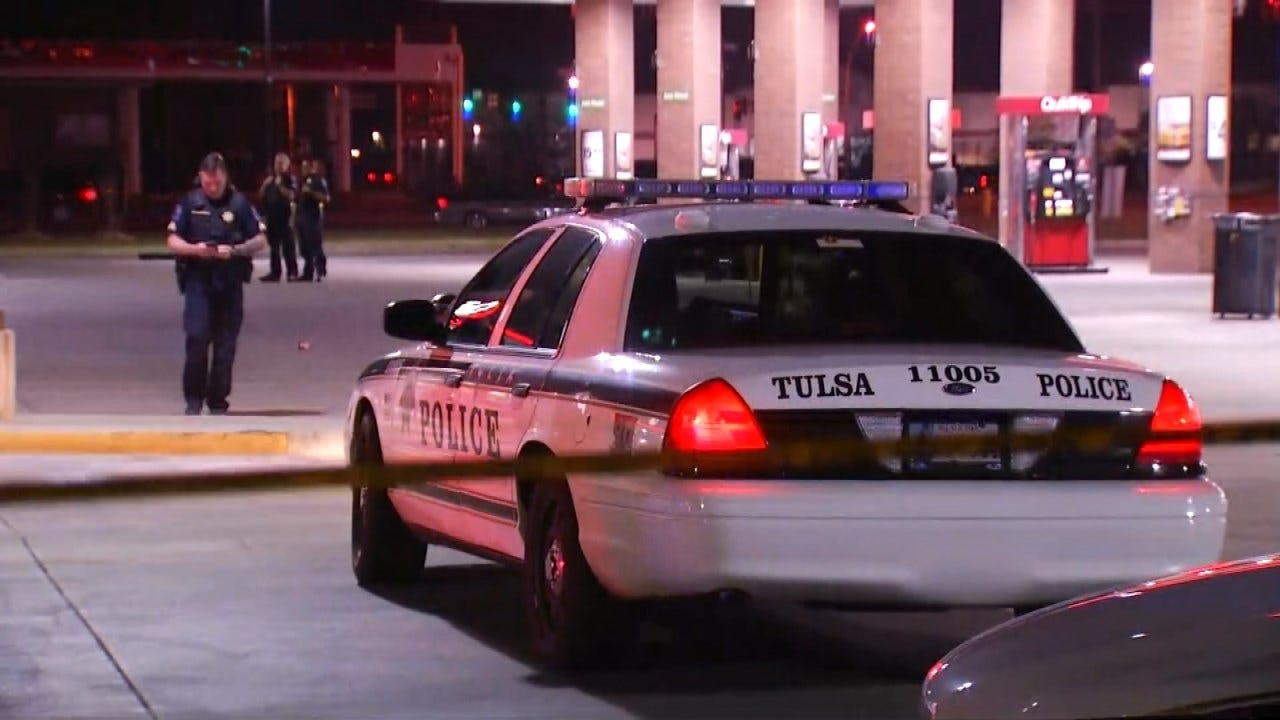 Police: Man Shot After Attacking Tulsa Security Guard With Pipe