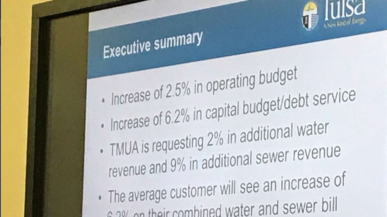 City Of Tulsa Proposes Water, Sewer Bill Increases
