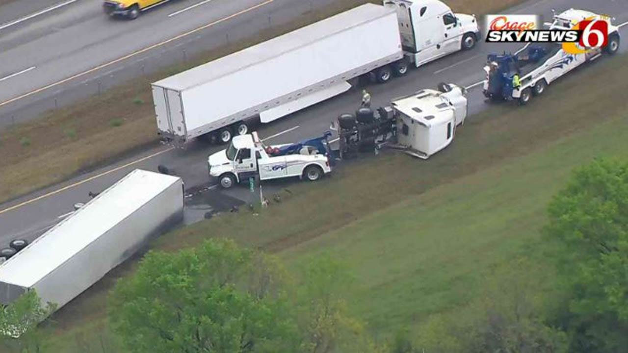 Truck Wreck Backs Up Traffic On Will Rogers Turnpike