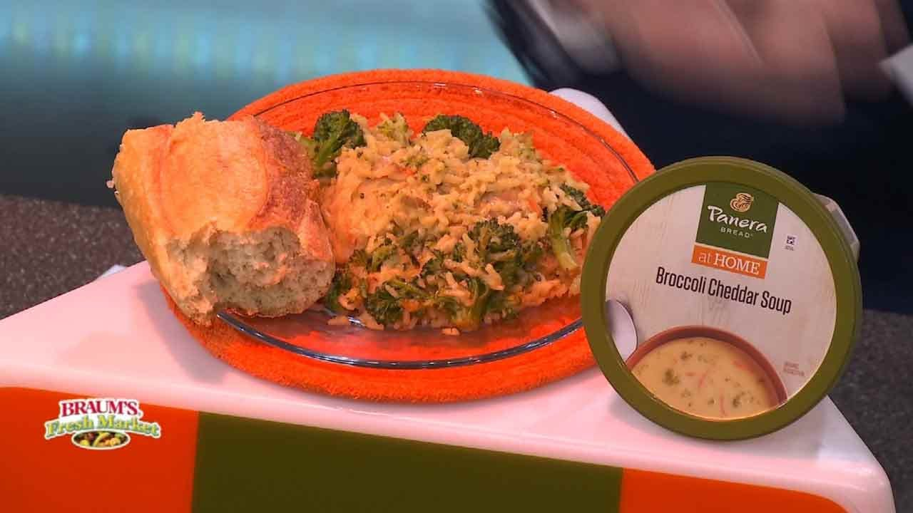Cheesy Chicken Broccoli Rice Skillet