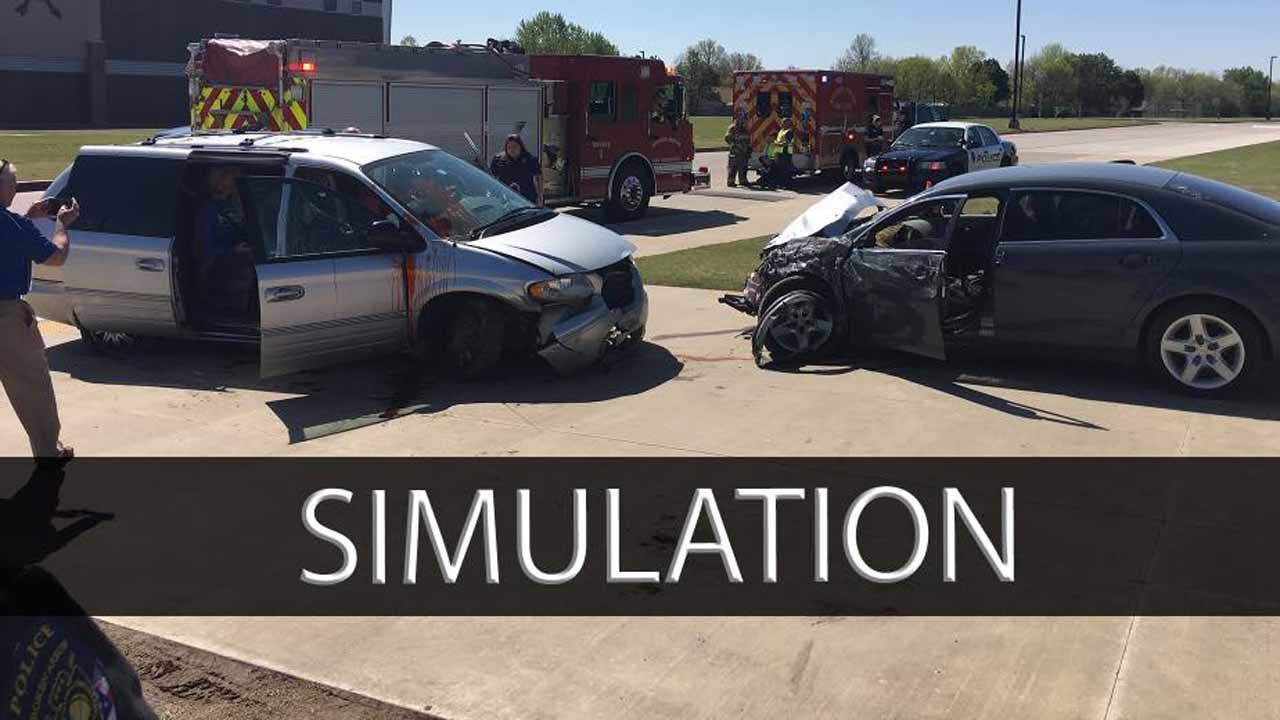 Broken Arrow High School Hosts Crash Simulation