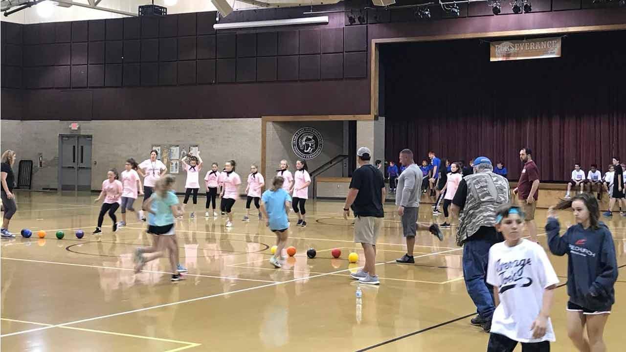 Jenks School Hosts Dodgeball Tournament For School Funding