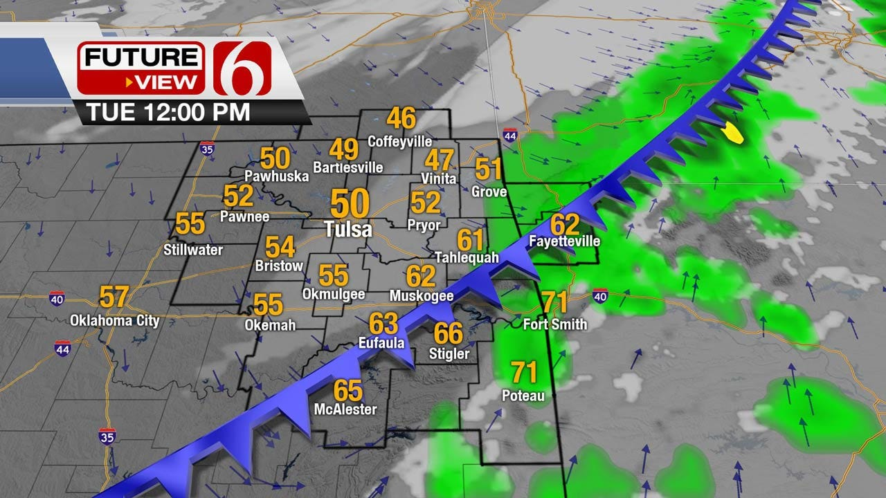 Another Cold Front Set To Move Into Northeast Oklahoma