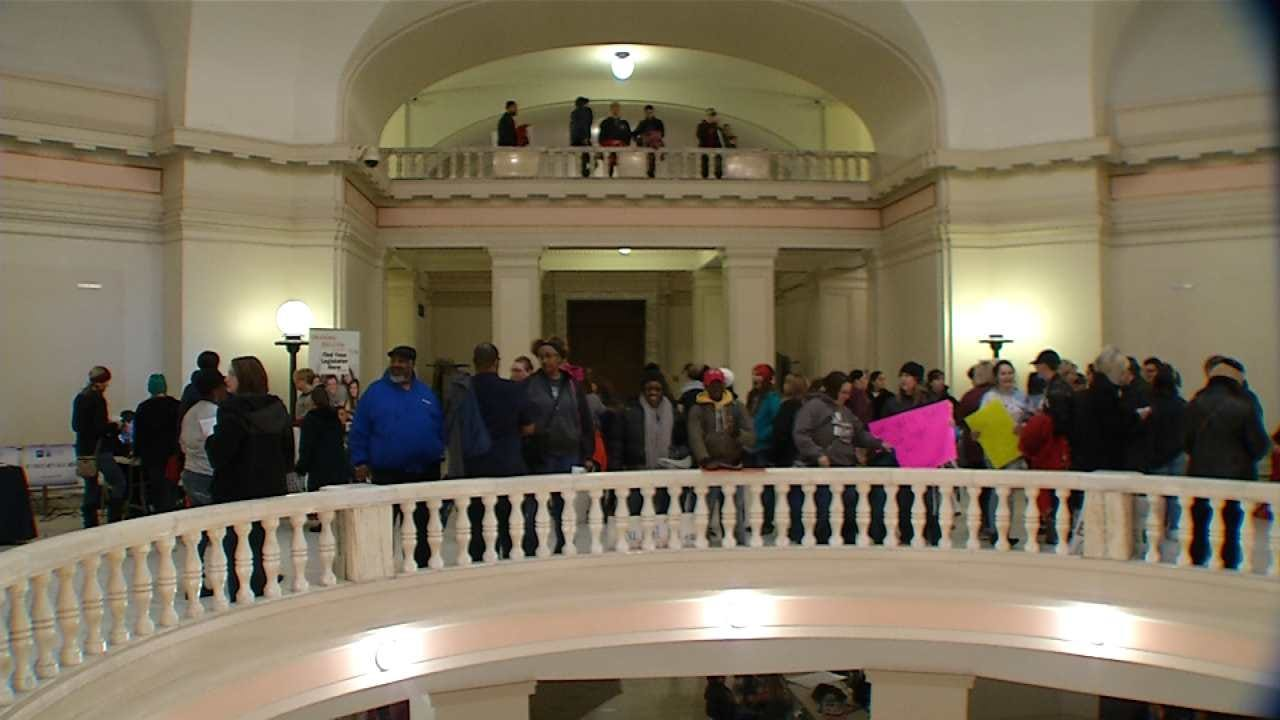 Day Two Of Oklahoma Teacher Protest At State Capitol