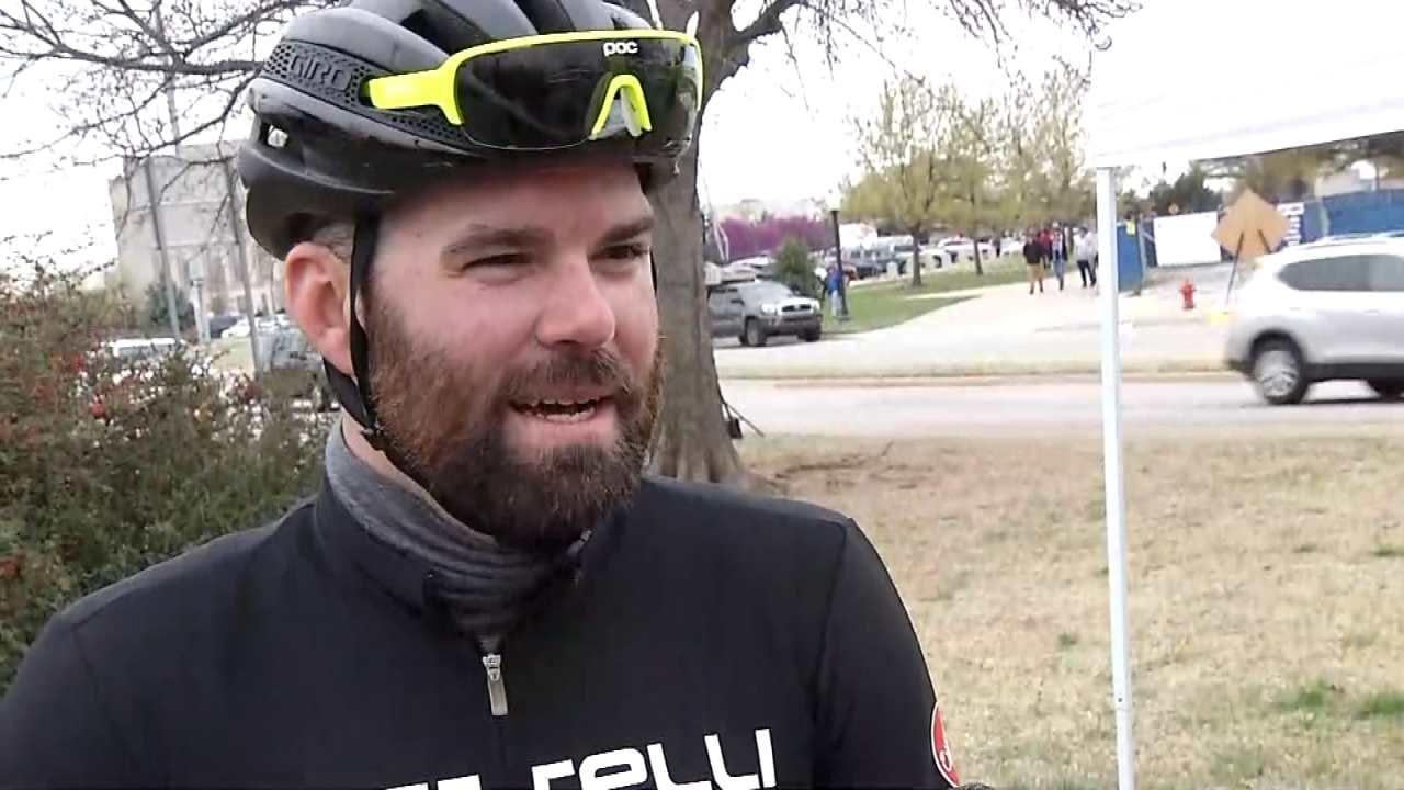 Tulsa Teacher Rides Bicycle To OKC Teacher Rally