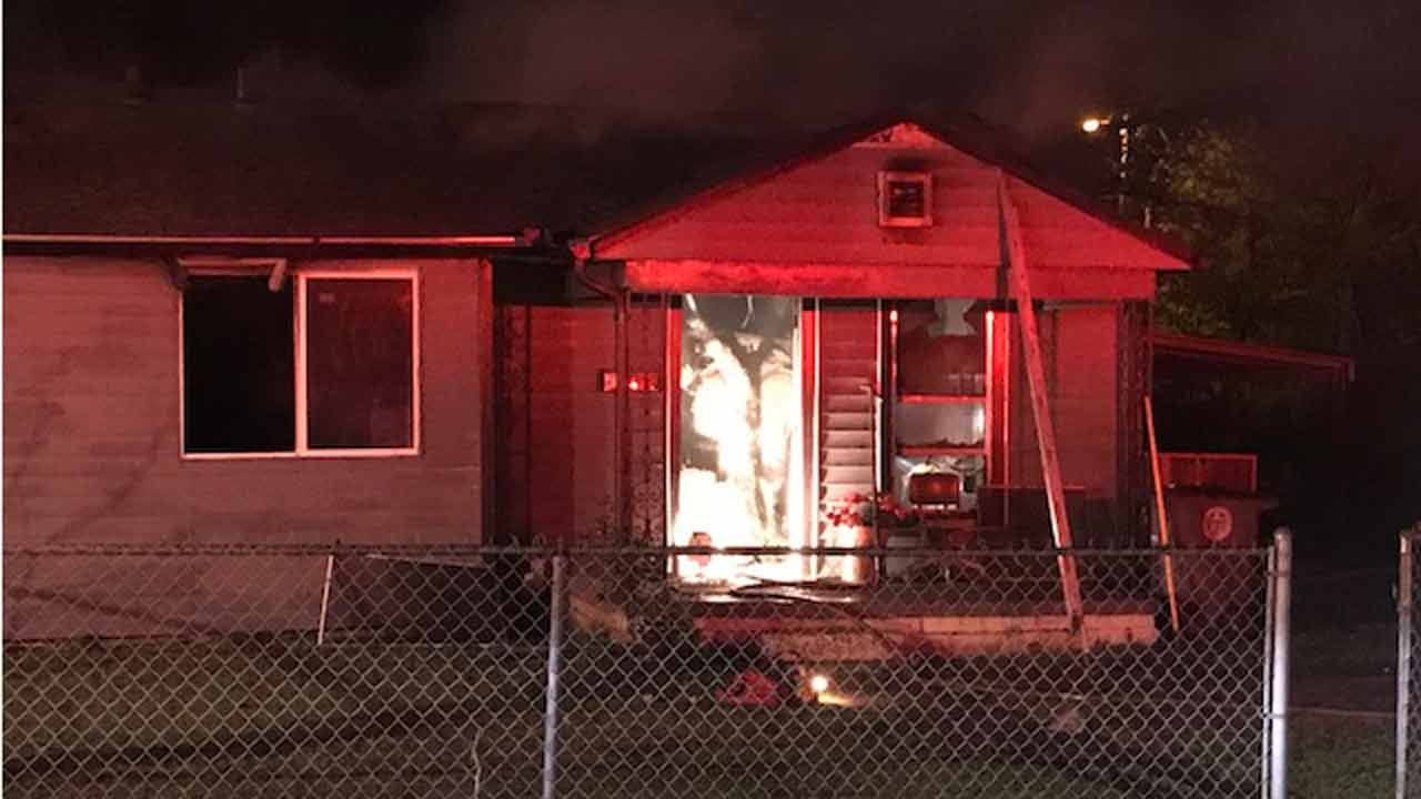 Fire Ravages Tulsa Home