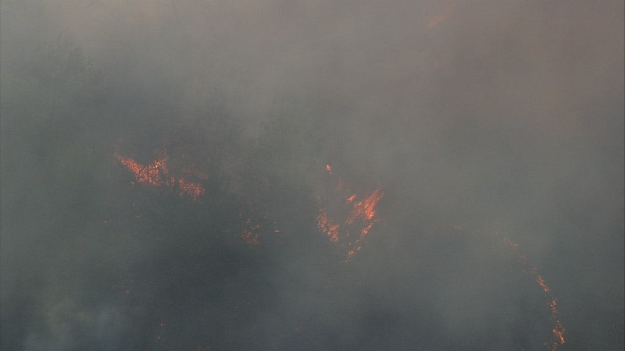 Grass Fires Lead To Evacuations Near Jennings
