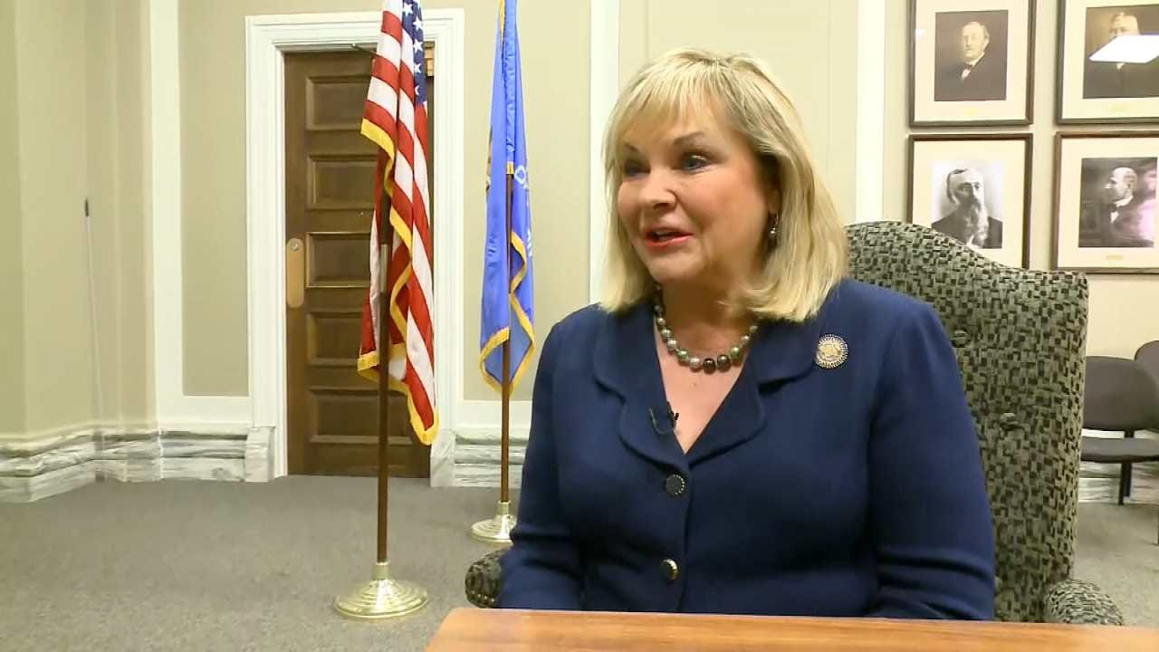 Gov. Fallin Angers Teachers Over 'Teenage Kid' Comment In CBS Interview